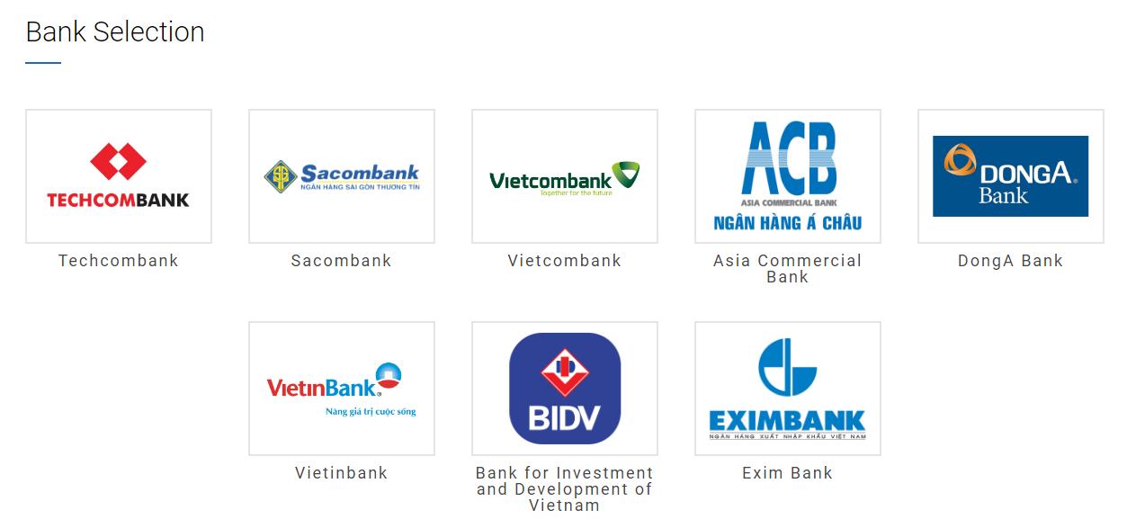 Các ngân hàng cho bạn lựa chọn
