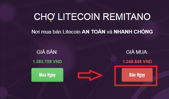 Hướng dẫn mua bán LiteCoin (LTC) trên Remitano từ A – Z chi tiết
