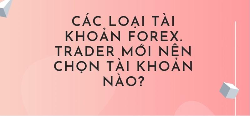 Các loại tài khoản forex? Trader mới nên chọn tài khoản nào?