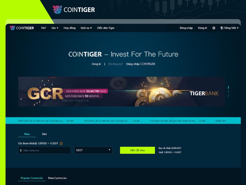 Đánh giá sàn CoinTiger chi tiết